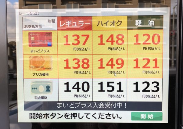 出光でガソリン価格を安くする方法|楽天ポイントカードで使える技